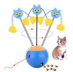 Animals & Pet Supplies > Pet Supplies > Cat Supplies > Cat Toys - 3-in-1 Interactive Laser/Cat Toy/Feeder