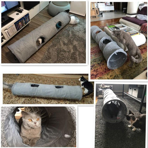 Animals & Pet Supplies > Pet Supplies > Cat Supplies > Cat Toys - Deluxe Cat Tunnel Set