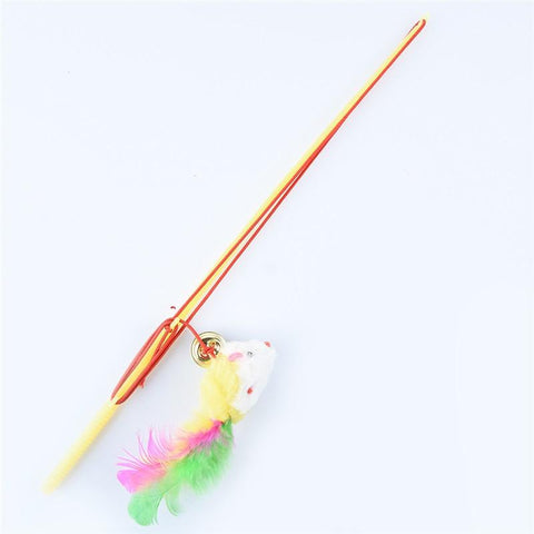 Animals & Pet Supplies > Pet Supplies > Cat Supplies > Cat Toys - Kitty Cat FunWand - Simple Interactive Cat Toy