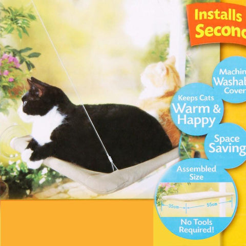 Animals & Pet Supplies > Pet Supplies > Cat Supplies - The Cat Bird Seat - Cat Window Perch - Window Hammock