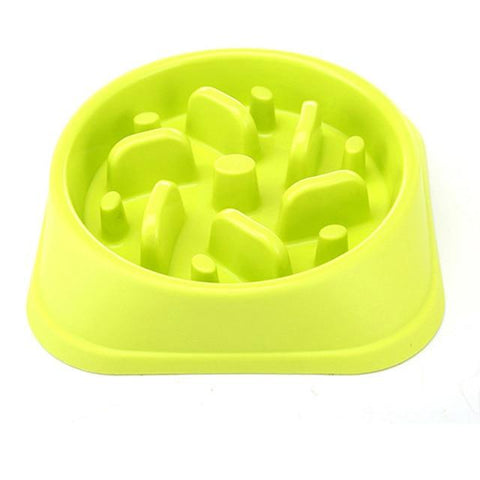 Animals & Pet Supplies > Pet Supplies > Pet Bowls, Feeders & Waterers - Anti-Choke/Anti-Vomit Slow Feeding Bowl