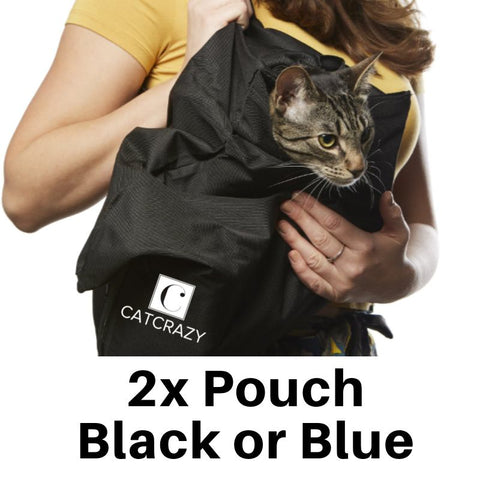 Animals & Pet Supplies > Pet Supplies > Pet Carriers & Crates - Cat Crazy Comfy Pouch™