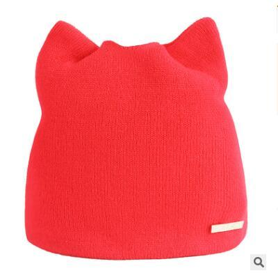 Apparel & Accessories > Clothing Accessories > Hats - Knit Cat-Ear Beanies