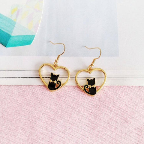 Apparel & Accessories > Jewelry > Earrings - Cat-n-My Heart Earrings (Get Them FREE - Read How!)