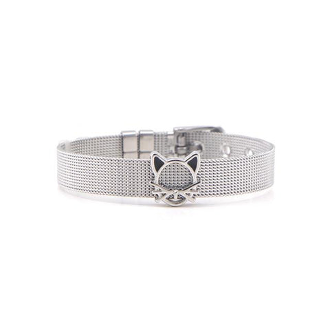 Apparel & Accessories > Jewelry - Mesh Belt - Cat Charm Bracelet