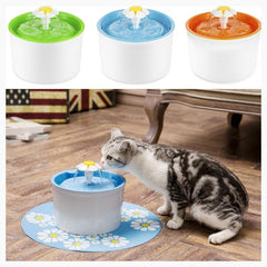 Cat Feeding & Watering Supplies - Feline Flower Fountain + 4 FREE Filters