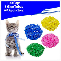 Cat Grooming - Cat Claw Caps (100pcs + 5 Glue Tubes)