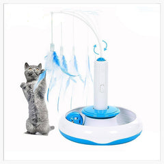 Cat Toys - Flying Feather: 3-in-1 Interactive Cat Toy