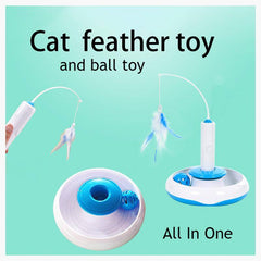 Flying Feather: 3-in-1 Interactive Cat Toy
