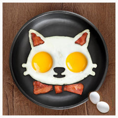 Egg & Pancake Rings - Kitty Egg & Bacon Mold-No Stick!