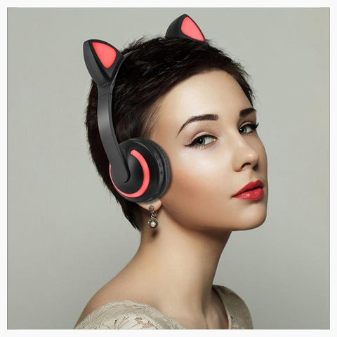 Electronics > Audio > Audio Accessories > Headphone & Headset Accessories > Headphone Cushions & Tips - Wireless Cat Ear Headphones