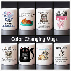 Home & Garden > Kitchen & Dining > Tableware > Drinkware > Coffee & Tea Cups - Color Changing Cat-Centric Mug Collection - 8 DESIGNS!