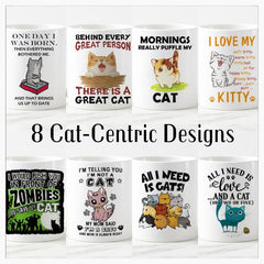 Home & Garden > Kitchen & Dining > Tableware > Drinkware > Coffee & Tea Cups - Kitty Cat Color Changing Magic Mugs - 8 DESIGNS