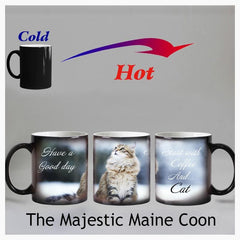 Home & Garden > Kitchen & Dining > Tableware > Drinkware > Coffee & Tea Cups - Maine Coon - Color Changing -  Magic Mug