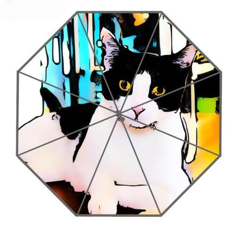 Home & Garden > Parasols & Rain Umbrellas - Cat Art On Umbrellas-9 Design Collection!