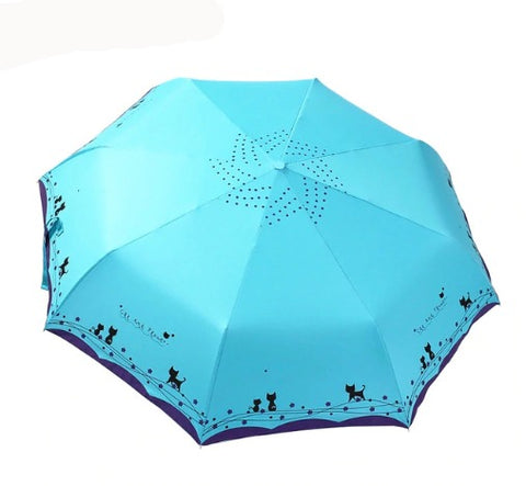 Home & Garden > Parasols & Rain Umbrellas - Folding Feline Umbrella-5 Colors
