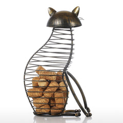 Quirky Cat Cork Jar