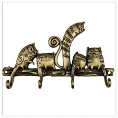 Hooks & Rails - Bronzed  Cartoon Cat Hook Set - HALF OFF