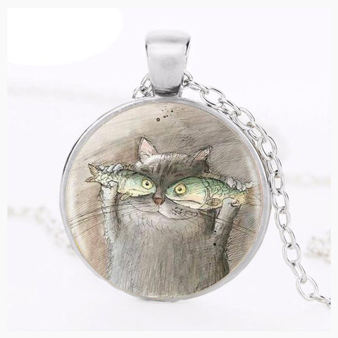 Jewelry - Fish Eyed Cat Pendant