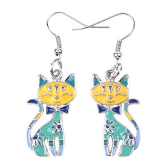 Funky Calico Earrings
