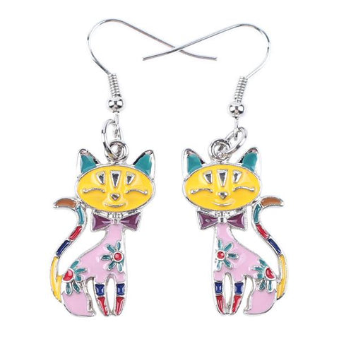 Jewelry - Funky Calico Earrings