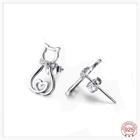 Jewelry - Lovely Cat-Lover Earrings/Sterling Silver