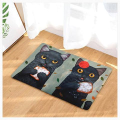 Mat - Cat Couple Doormats