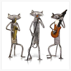 Metal Sculpture - Cat Jazz Band