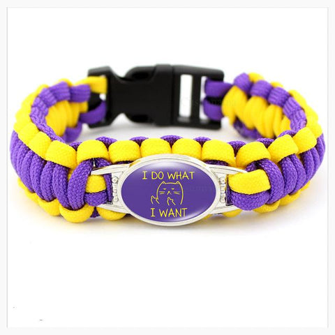 Paracord Bracelet For Cat Lovers