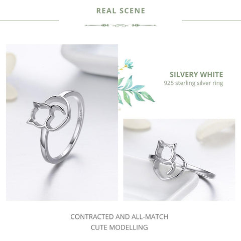 Rings - Sterling Silver - I Heart Cat Ring