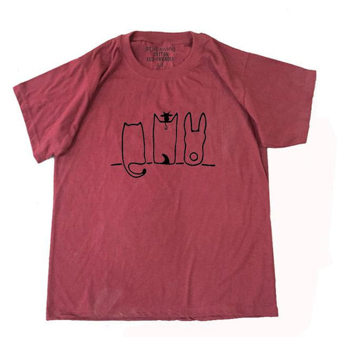 T-Shirts - Cat-Dog-Bunny Cotton Tee