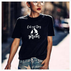 T-Shirts - Cat-n-Dog Mom Tee
