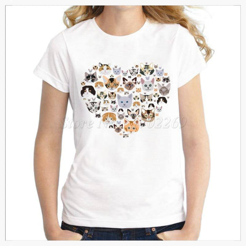 T-Shirts - I Heart Cats T-Shirt