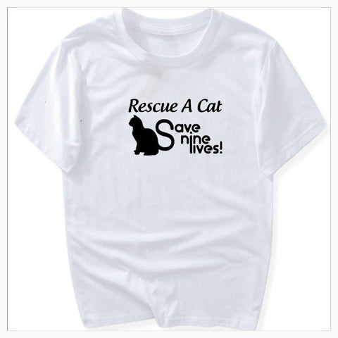 T-Shirts - Save 9 Lives - Ladies Tee