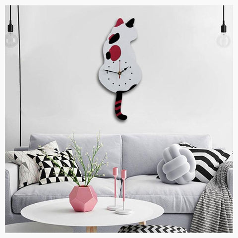 Wall Clocks - Cuddle Time - Cat Clock