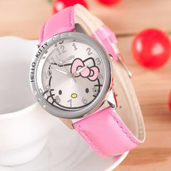 Hello Kitty Leather Band Watch