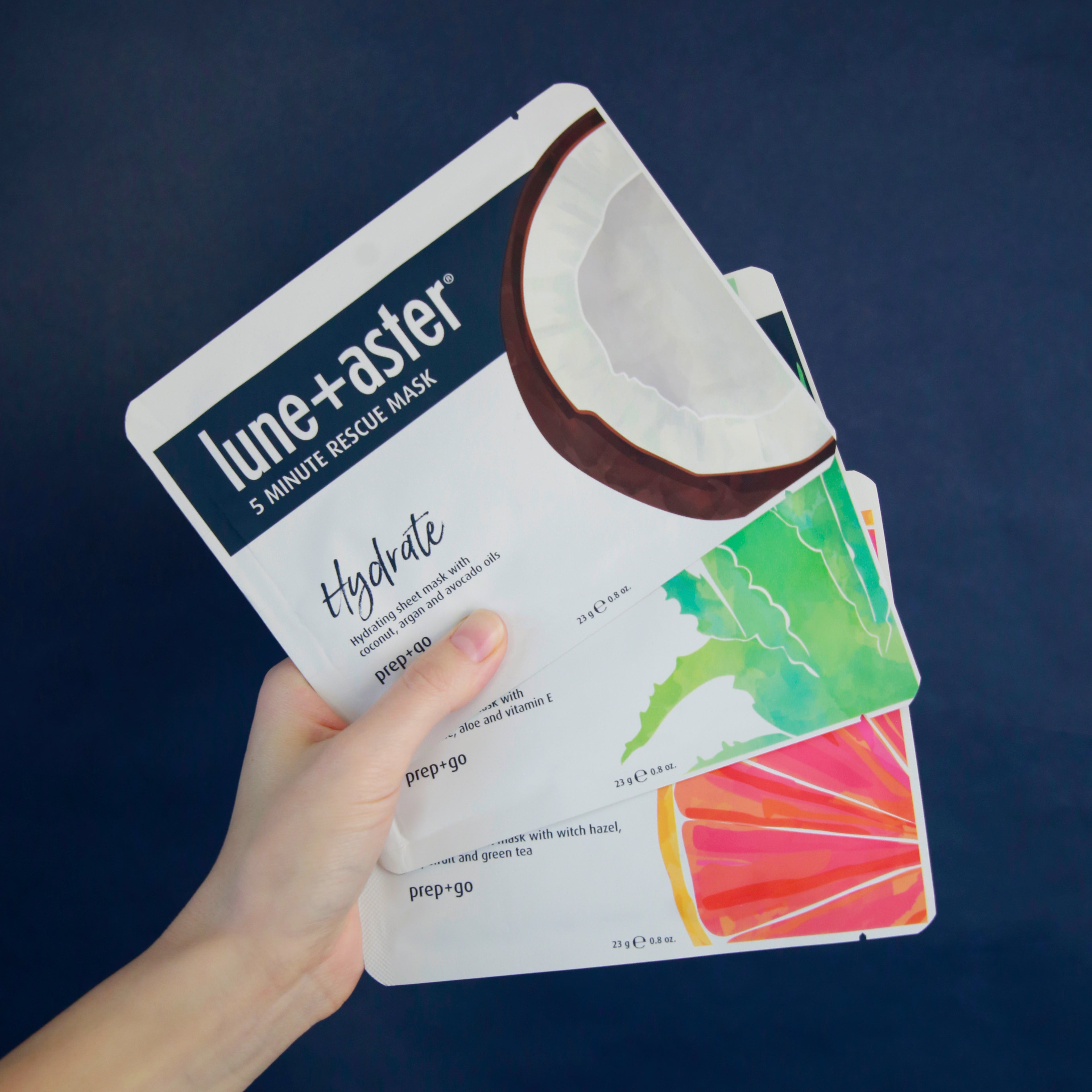 5 Minute Rescue Sheet Mask Trio - Hydrate, Soothe, Detox