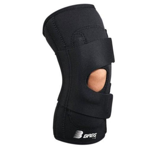 Breg Lateral Stabilizer Knee Brace with Hinges Side View - thebracestore