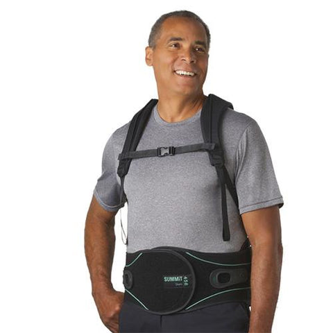Aspen Summit 456 TLSO Back Brace Front View on man - thebracestore