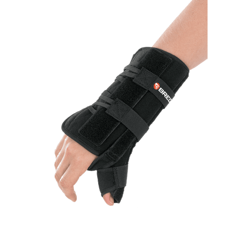 Breg Apollo Universal Wrist Brace with Thumb Spica Dorsal Side View - thebracestore