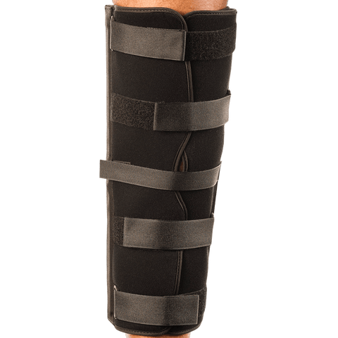 Breg Tri-Panel Knee Immobilizer Back View - thebracestore
