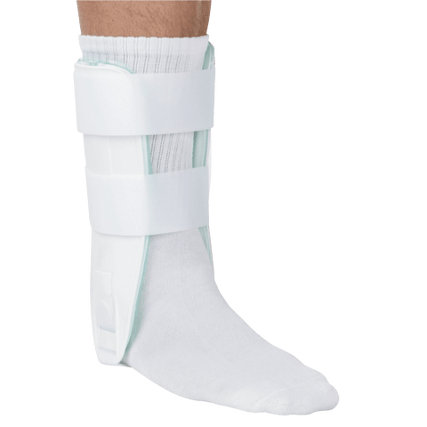 Breg KoolAir Ankle with Valve Angled View - thebracestore