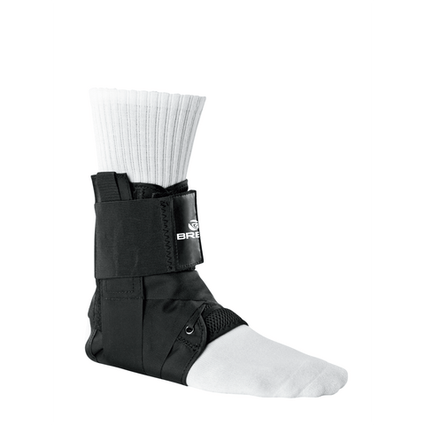 Breg Lace-Up Ankle Brace Side View - thebracestore