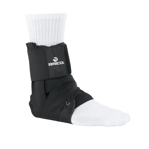 BREG Lace-Up Ankle Brace with Tibia Strap