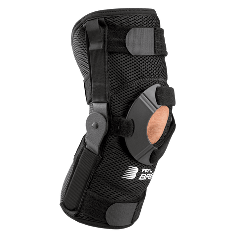 Breg PTO High Performance Knee Brace Angled View - thebracestore