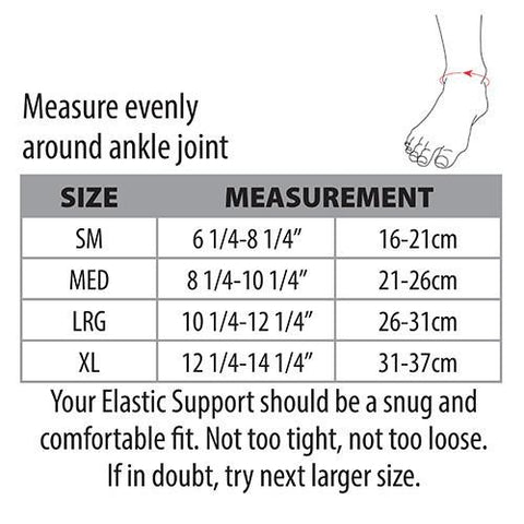 Swede-O Elastic Ankle Sleeve Sizing