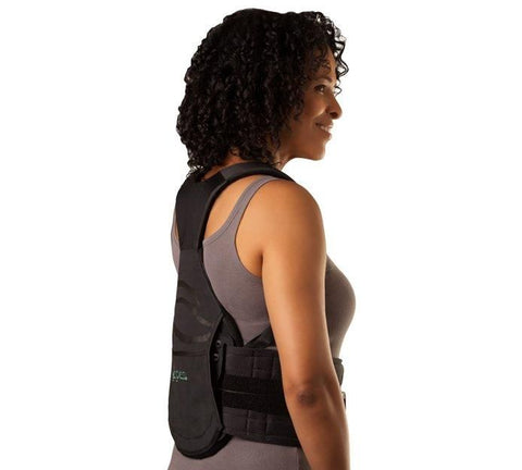 Aspen Horizon 456 TLSO Back Brace Side View on women - thebracestore