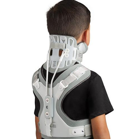 Aspen Pediatric CTO Neck Collar/Thoracic Back Brace Back View - thebracestore