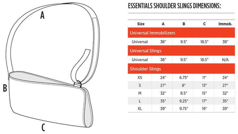 Breg Deluxe Shoulder Immobilizer Sizing
