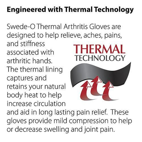 Swede-O Thermal Arthritis Gloves (pair) - thebracestore